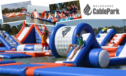 $19 for Aqua Fun Park Ticket at Melbourne Cable Park (Up to $25 Value)