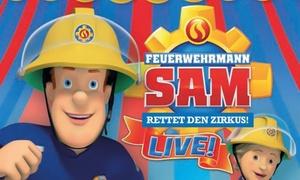 """GO 2 Convent GmbH: 2 Tickets für """"Feuerwehrmann Sam rettet den Zirkus"""" in 9 Städten u. a. in Stuttgart, Mannheim uvm. (bis zu 38 % sparen)"""