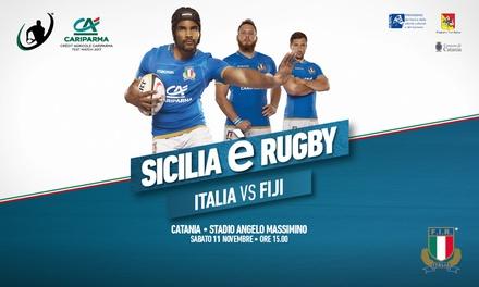 Rugby - Italia vs Fiji a Catania