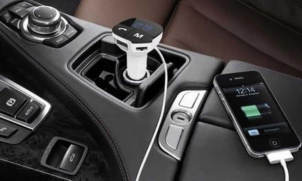 1 ou 2 kits mains libres Bluetooth/transmetteur de musique pour voiture