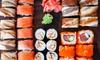 Sushi box d'asporto con 50 pezzi
