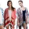 Women's Kimono Capes with Fringe Trim