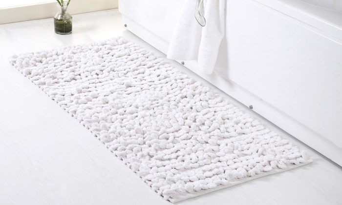 Chenille Thick Loop Bath Rug Groupon
