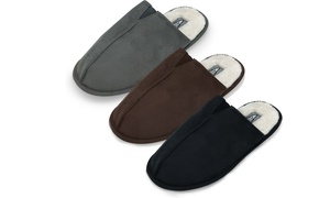 Men's Fur-Lined Slippers with Memory Foam Insole