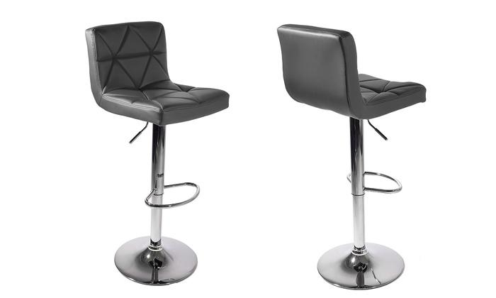 jusqu 39 77 tabouret de bar moni pivotant groupon. Black Bedroom Furniture Sets. Home Design Ideas