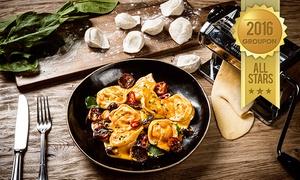 """פאפא'ס-PAPPA'S: פאפא'ס האיטלקית בכרם התימנים, ת""""א: ארוחה זוגית משובחת ב-179 ₪! שלל מנות לבחירה, קינוח, בירה/יין/שתייה ועוד. תקף בחנוכה"""