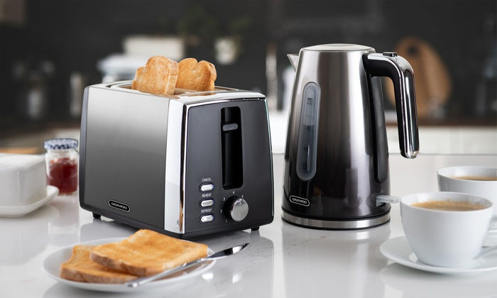 Daewoo Callisto Ombre Jug Kettle and Two-Slice Toaster