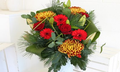 image for Festive Bouquet with Delivery from Mad Flowers (48% Off)