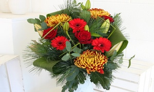 Mad Flowers: Festive Christmas Bouquet with Delivery from Mad Flowers (48% Off)