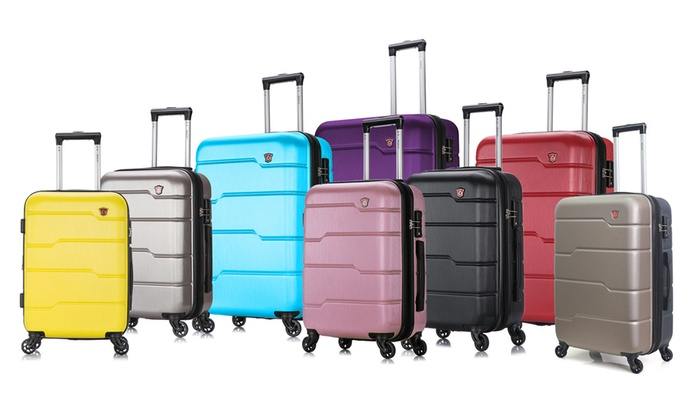 697176ff6b7f Up To 53% Off on DUKAP Spinner Luggage | Groupon Goods
