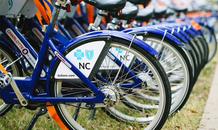 Charlotte B-cycle: Five 24-Hour Bike Rental Vouchers or One Seasonal Pass at Charlotte B-Cycle (Up to 46% Off)
