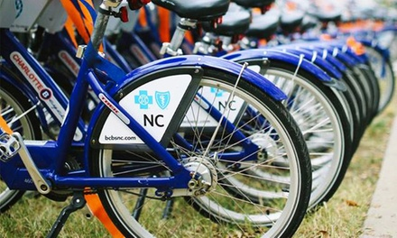 Five 24-Hour Bike Rental Vouchers or One Seasonal Pass at Charlotte B-Cycle (Up to 46% Off)