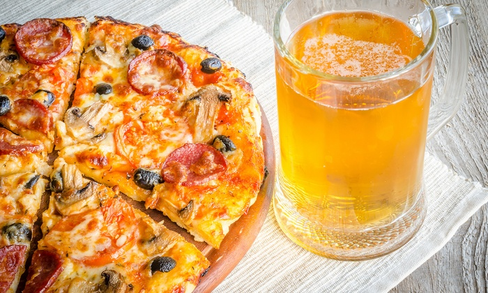 The Pond Pub and Pizza - Cowesett: Pizzeria Fare for Two or Four at The Pond Pub and Pizza (50% Off)