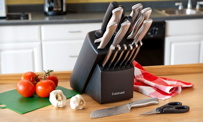 ... Cuisinart Forged Stainless Steel Knife Block Set: $54.99 For A Cuisinart  17 Piece
