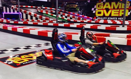 One ($25), Two ($49) or Four ($95) Electric Go-Kart Race Sessions at Game Over Gold Coast (Up to $156 Value)