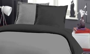 Pack complet linge de lit bicolore