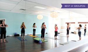 Pure Yoga: 10 Yoga Classes or One Month of Unlimited Yoga at Pure Yoga (Up to 73% Off)
