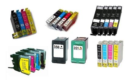 Cartucce compatibili Brother e HP in varie quantità e modelli