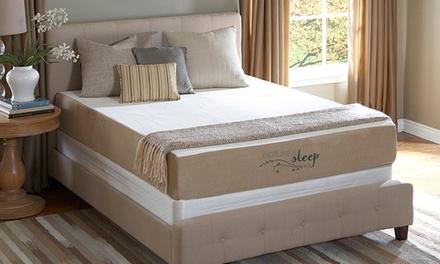 "Nature's Sleep Cool IQ 10"" Memory Foam Mattresses with Optional Foundation. 20-Year Warranty."