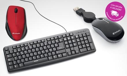 Desde $89 en vez de $139 por mouse o teclado Verbatim a elección con delivery o retiro en sucursal