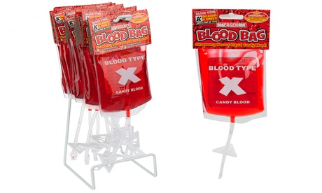 One or Two Halloween Candy Blood Bags