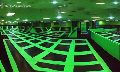 Up to 31% Off One-Hour Jump Session at Skymax Trampoline Arena