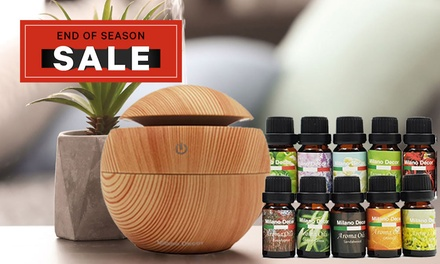 $29 for a Milano USB Essential Oil Diffuser with a TenPack of Essential Oils Don't Pay $129