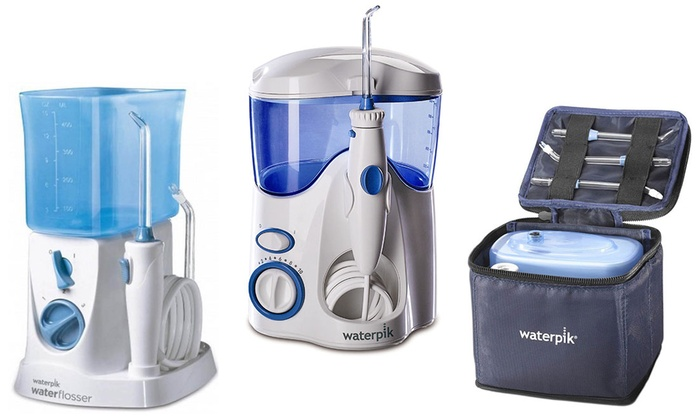 waterpik water flosser set groupon goods. Black Bedroom Furniture Sets. Home Design Ideas