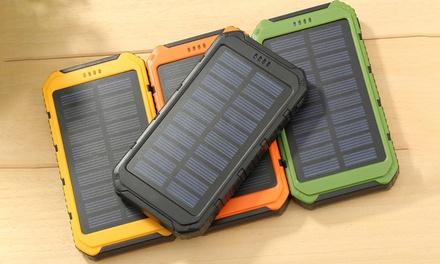 Batterie solaire portable étanche anti-choc, capacité de 10 000 mAh