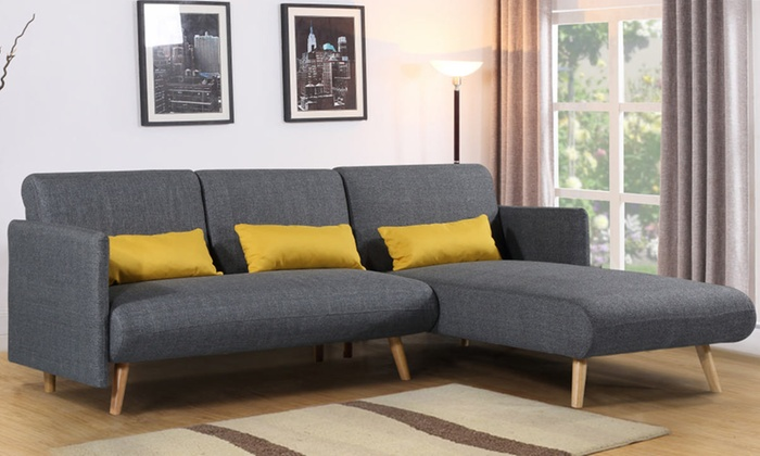 Los Angeles Corner Sofa Bed Groupon For