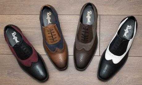 Zapatos bicolor de piel Redfoot para hombre