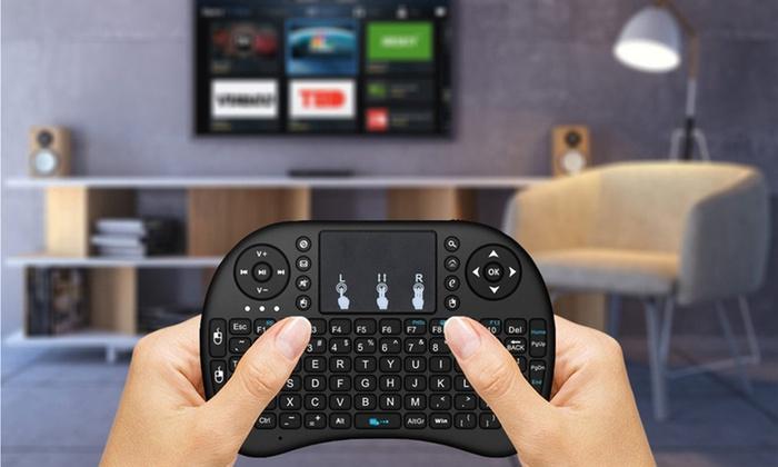 Draadloos toetsenbord met touchpad voor Smart TV, PC, gameconsoles en mediaspelers