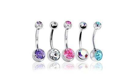 Set di piercing per ombelico