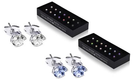 Set de 7 pares de pendientes adornados con cristales de Swarovski®