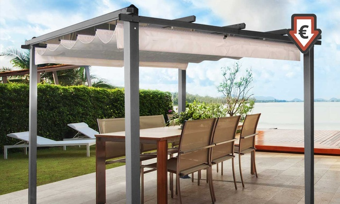 pergola 3x3 m groupon shopping. Black Bedroom Furniture Sets. Home Design Ideas