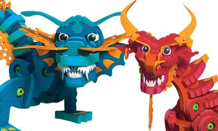 Bloco Dragons Aqua and Pyro Model Set