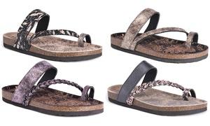MUK LUKS Women's Keia Braided Strap Sandals