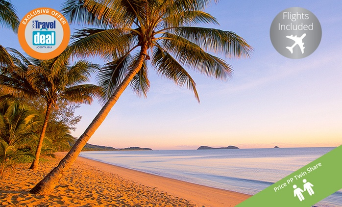 Great Barrier Reef, Cairns: From $499PP for a Beach Break with Flights and Tropical Breakfast at Kewarra Beach Resort