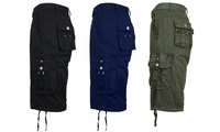 Groupon.com deals on 3-Pack Galaxy by Harvic Mens Tactical Reinforced Belted Cargo Shorts