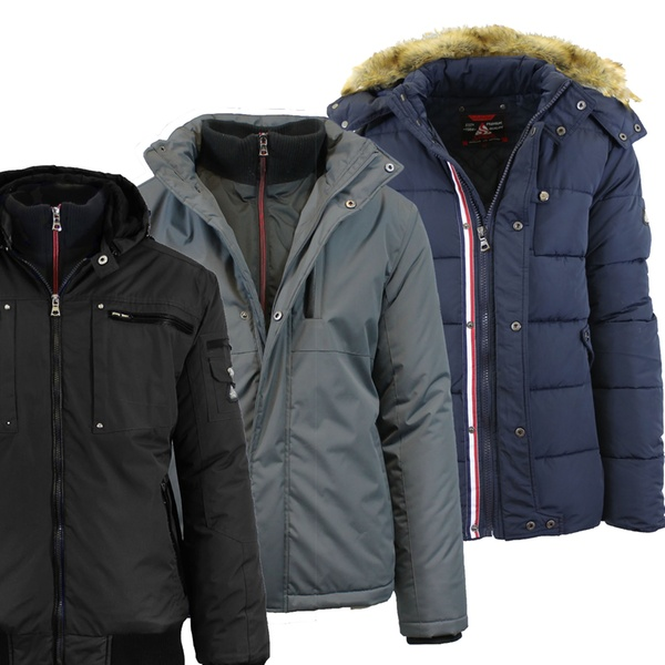 6130175fa98 Spire By Galaxy Men's Heavyweight Jackets with Detachable Hood