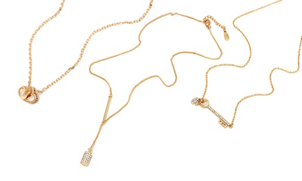 18K Gold-Plated Necklaces with Swarovski Elements Crystals from $23.99–$26.99