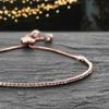 Lesa Michele Adjustable Bracelet Made with Swarovski Crystals