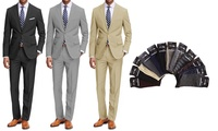 Braveman Mens Classic Fit Suits with Pair of Socks