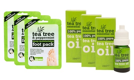 Three or Six Tea Tree Oil Foot Masks