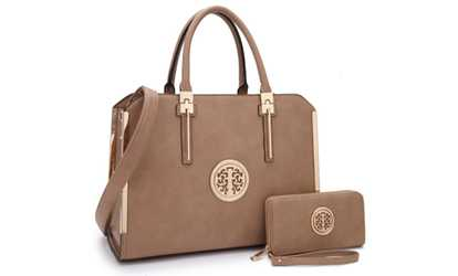 e4070b9792 Shop Groupon Marco M. Kelly Satchel and Wallet Sets