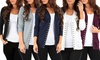 Women's Snap Button Cardigan and Black Fleece Lined Leggings