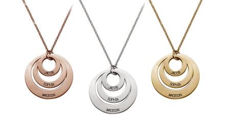 Diferentes collares o pulseras con nombre personalizable a elegir con Justyling (hasta 93% de descuento)