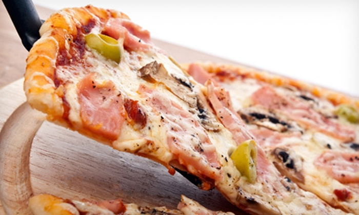 Flakey's Pizza - Greater Eastwood: Pizza at Flakey's Pizza (Up to 53% Off). Two Options Available.