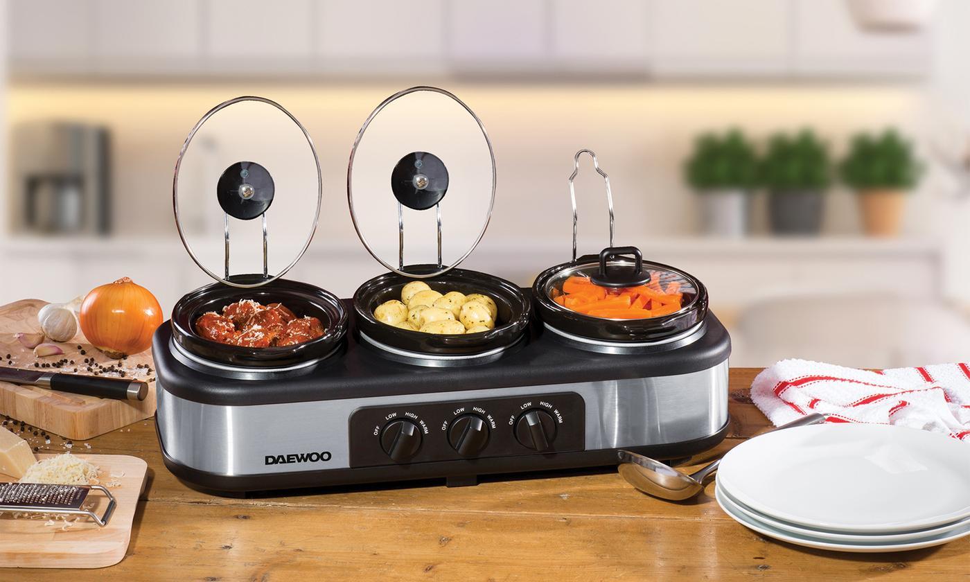 Daewoo Triple Slow Cooker