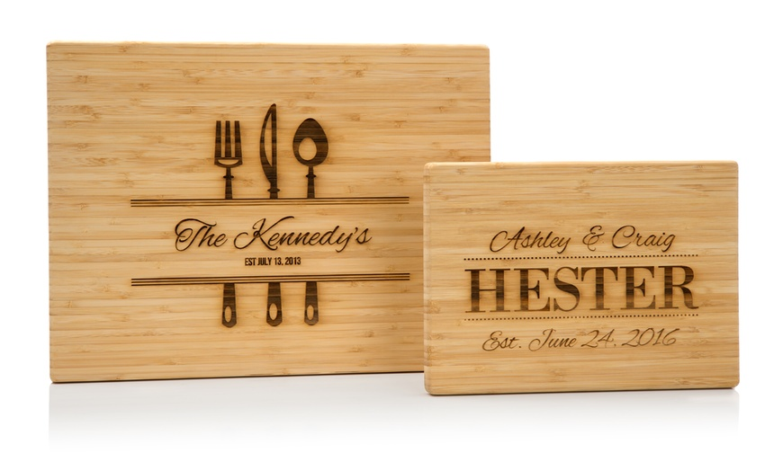 Up To 75 Off Laser Etched Bamboo Cutting Boards From Fabness Groupon